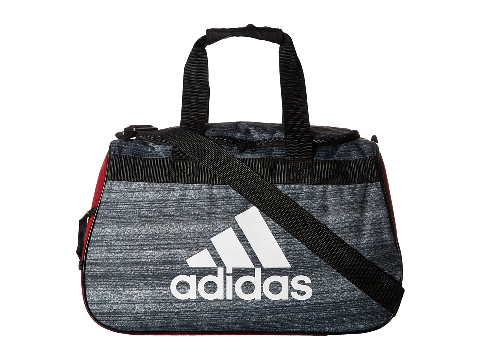adidas - Diablo Small Duffel (Noise Black/Collegiate Burgundy/Black/White) Duffel Bags