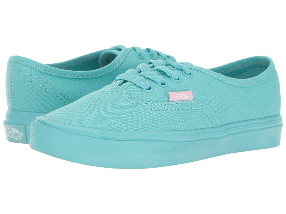 Vans Kids Authentic Lite (Little Kid/Big Kid) ((Mono) Blue Radiance) Girls Shoes