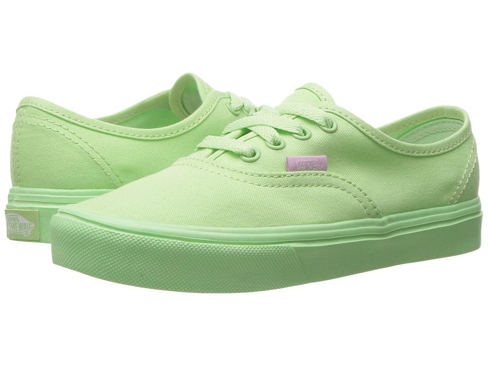 Vans Kids Authentic Lite (Little Kid/Big Kid) ((Mono) Patina Green) Girls Shoes
