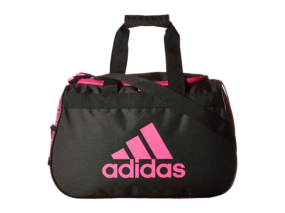 adidas - Diablo Small Duffel (Looper Shock Pink/Black/Shock Pink) Duffel Bags