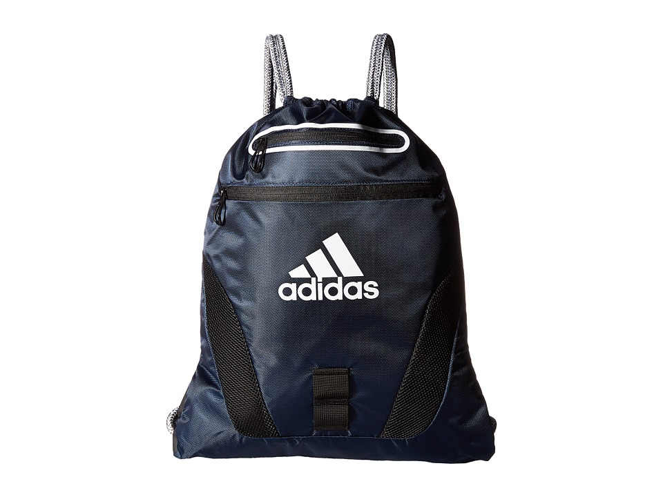 adidas - Rumble Sackpack (Collegiate Navy/White/Black/Heather Cording) Bags