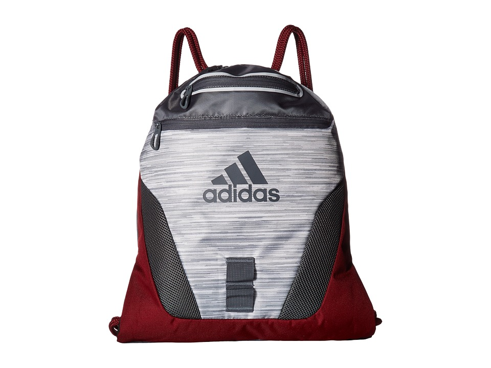 adidas - Rumble Sackpack (Looper White/Onix/Collegiate Burgundy) Bags