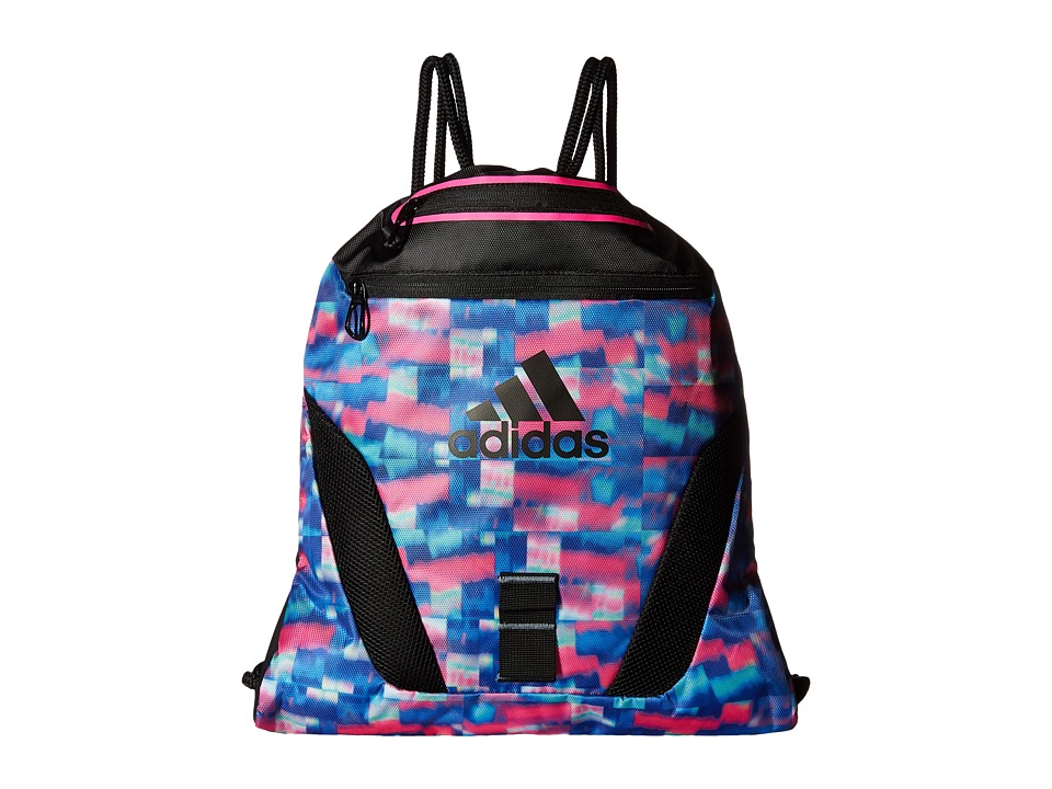 adidas - Rumble Sackpack (Jawbreaker/Black/Shock Pink) Bags