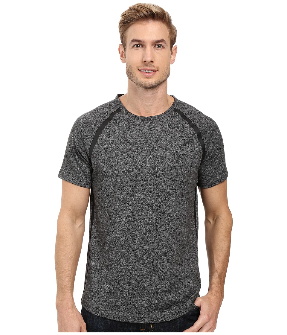 Kenneth Cole Sportswear - Short Sleeve Seam Seal Crew T-Shirt (Charcoal Heather) Men's T Shirt