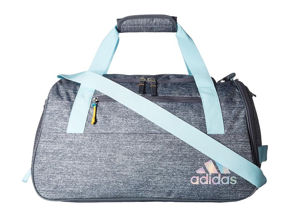 adidas - Squad III Duffel (Jersey Onix/Clear Aqua/Onix/Sun Glow) Duffel Bags