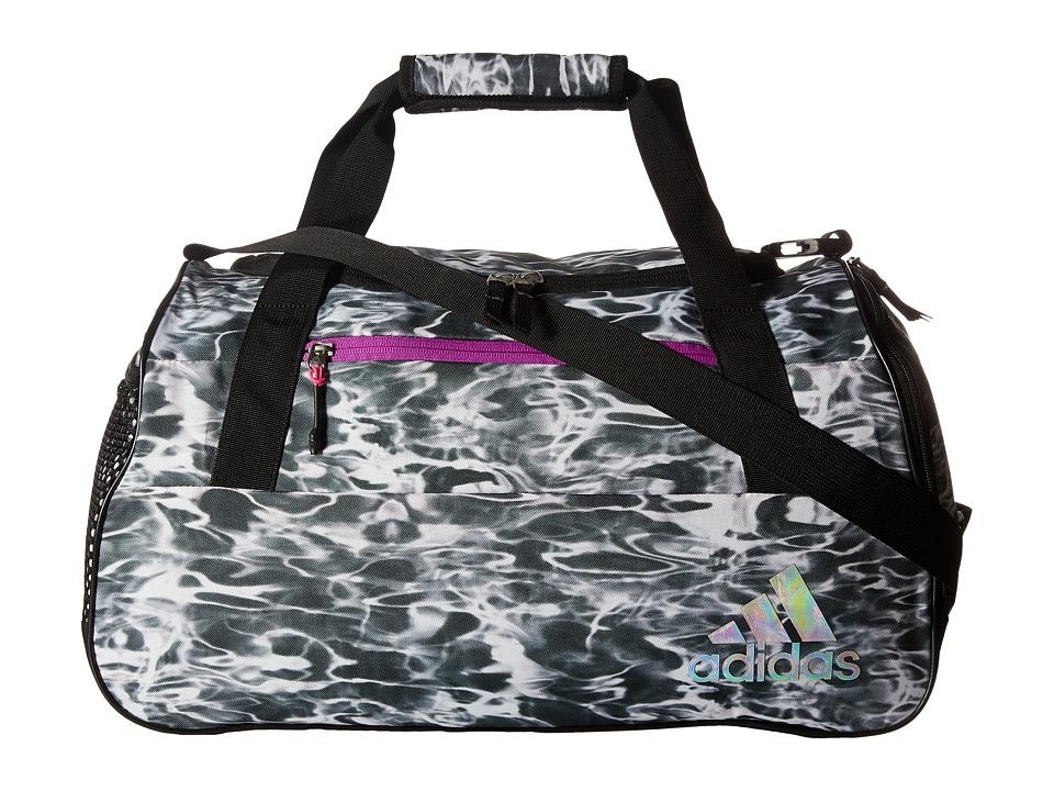 adidas - Squad III Duffel (Ponder/Black/Shock Purple/Shock Pink/White/Reflective) Duffel Bags