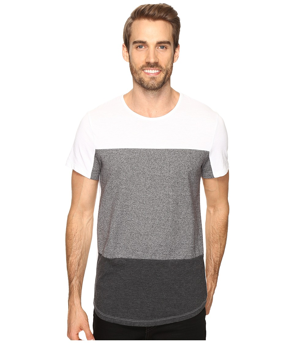 Kenneth Cole Sportswear - Short Sleeve Fabric Block Crew (Charcoal Heather) Men's T Shirt