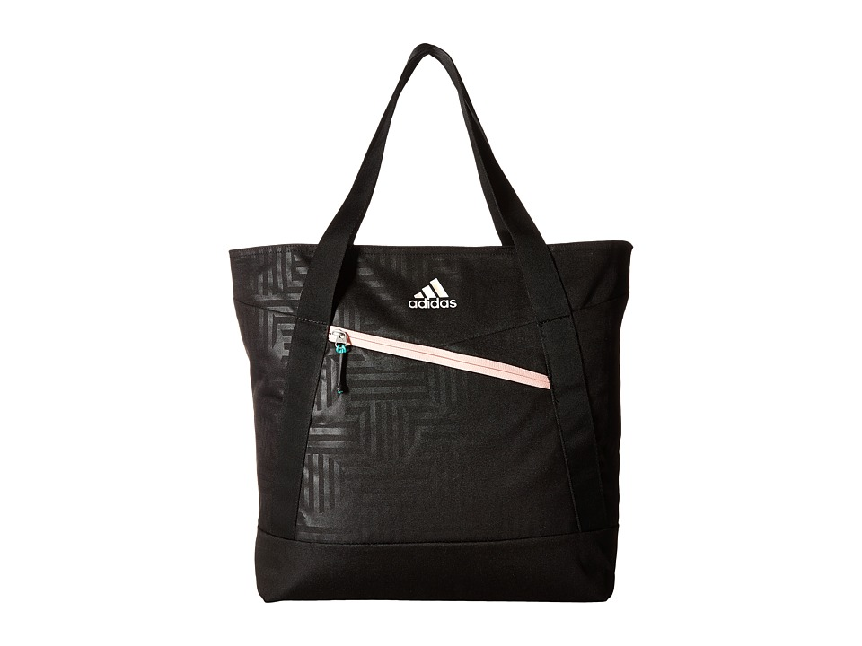 adidas - Squad III Tote (Black Dot Punch Emboss/Black/Haze Coral/Reflective) Tote Handbags