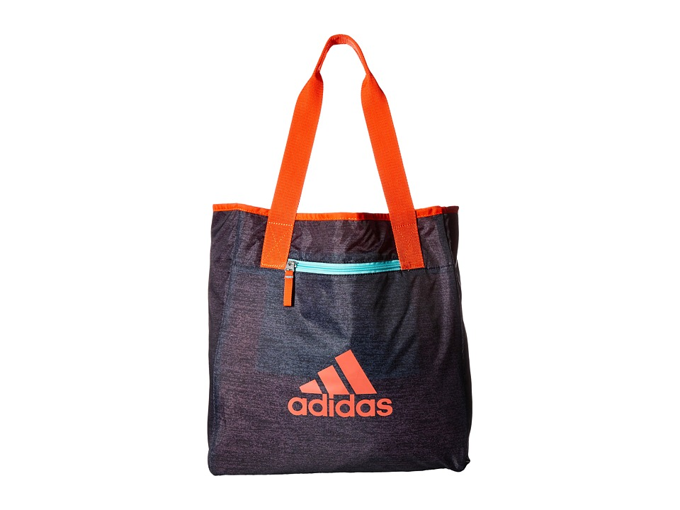 adidas - Studio II Tote (Jersey Black/Easy Coral/Clear Aqua) Tote Handbags