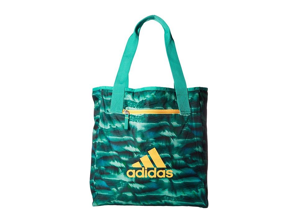 adidas - Studio II Tote (Cosmic Shock Mint/Shock Mint/Solar Gold) Tote Handbags