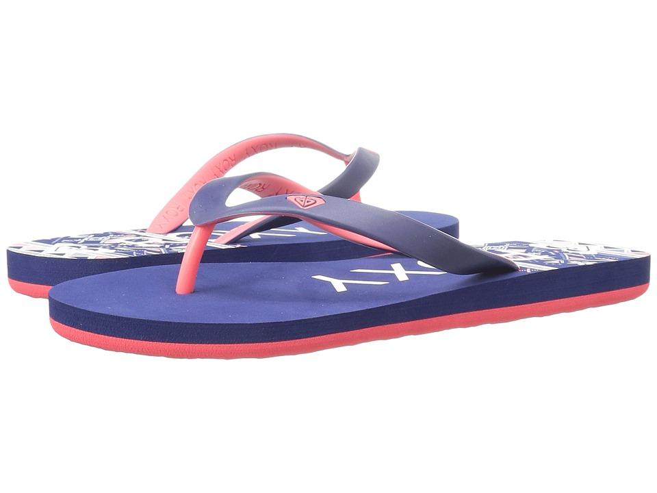 Roxy Kids - Tahiti V (Little Kid/Big Kid) (Red/Blue) Girls Shoes
