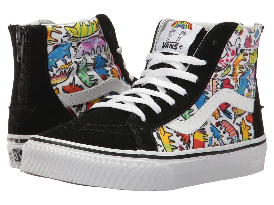 Vans Kids - Sk8-Hi Zip x Dallas Clayton (Little Kid/Big Kid) ((Dallas Clayton) Unicorns/True White) Kids Shoes