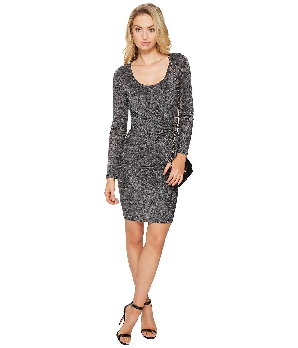 ONLY Ramona Knot Dress (Black/Silver Lurex) Women