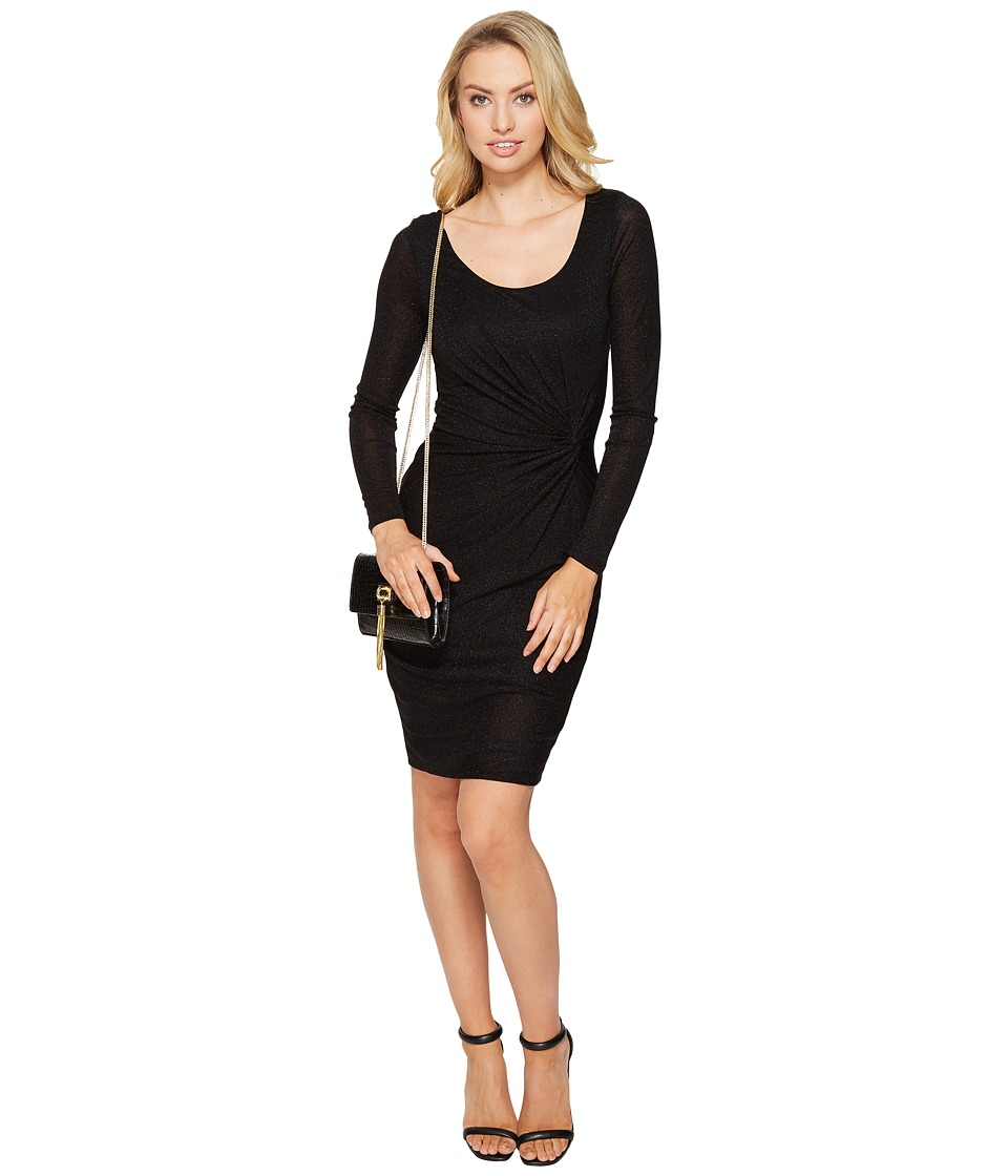 ONLY - Ramona Knot Dress (Black/Black Lurex) Women's Dress