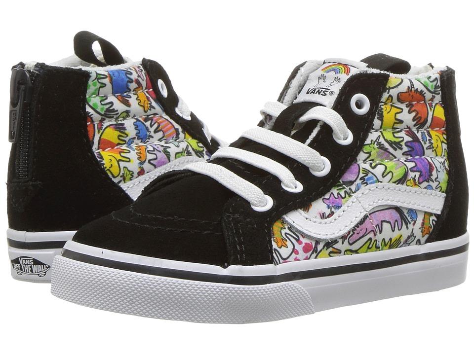 Vans Kids - Sk8-Hi Zip (Toddler) ((Dallas Clayton) Unicorns/True White) Kids Shoes
