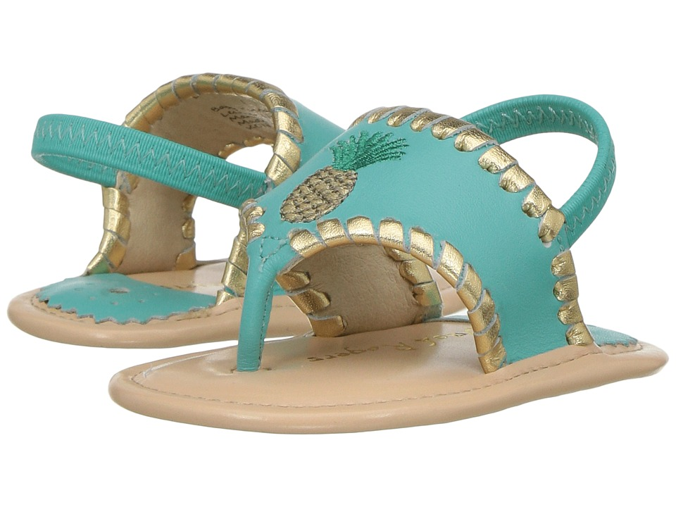Jack Rogers - Baby Pineapple (Infant) (Caribbean Blue/Gold) Women's Sandals