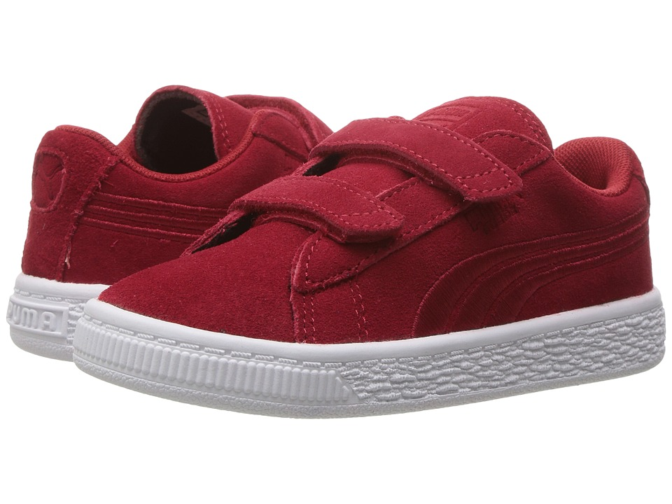 Puma Kids - Suede Classic Badge V INF (Toddler) (Barbados Cherry/Barbados Cherry) Boys Shoes