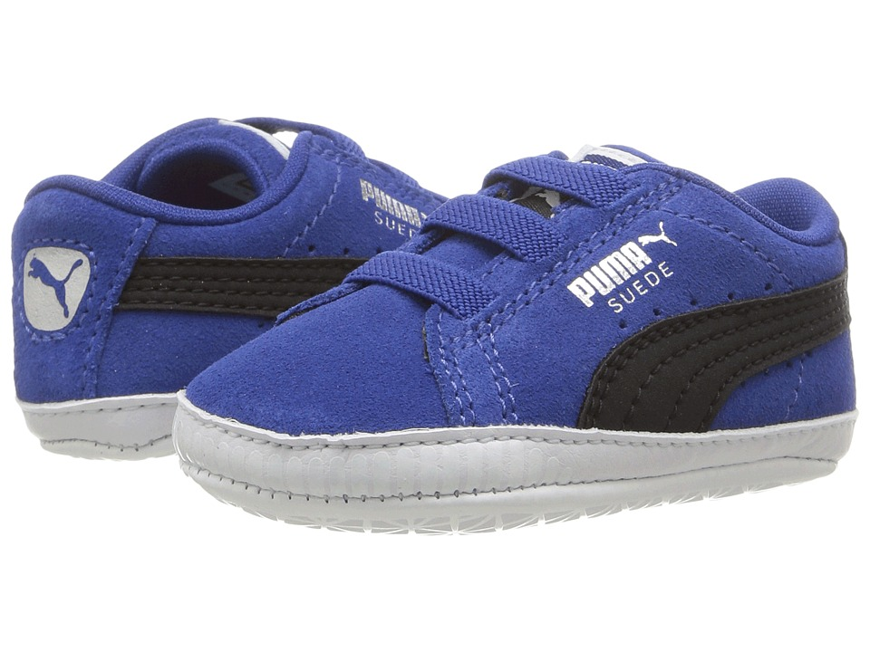 Puma Kids - Suede Crib (Infant/Toddler) (True Blue/Puma Black) Boy's Shoes