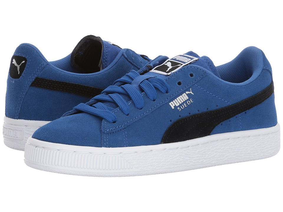 Puma Kids - Suede Jr (Big Kid) (True Blue/Puma Black) Boys Shoes
