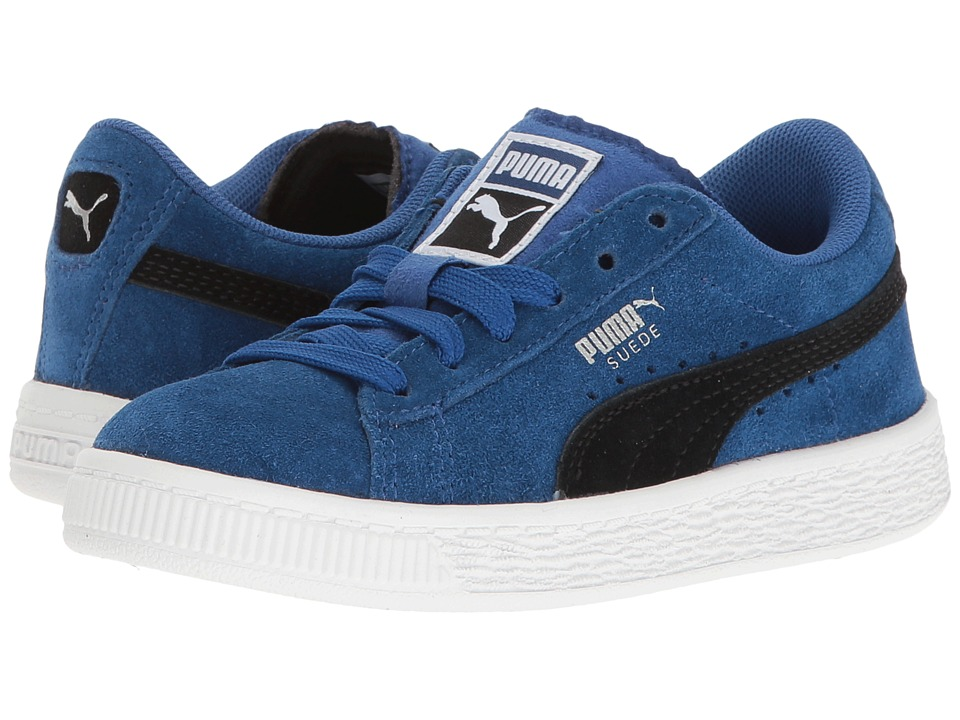Puma Kids Suede PS (Little Kid/Big Kid) (True Blue/Puma Black) Boys Shoes