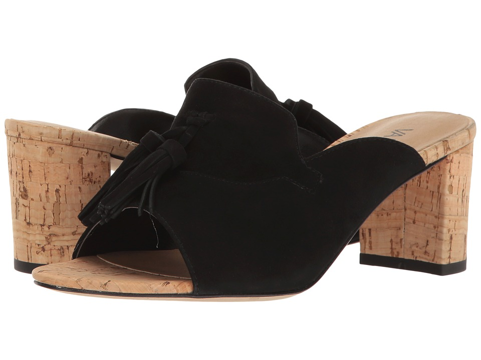 Vaneli - Marisa (Black Suede/Natural Cork) High Heels