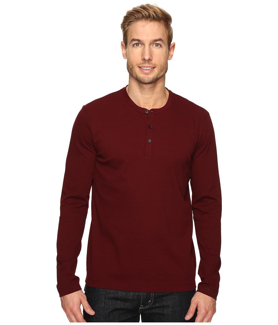 Kenneth Cole Sportswear - Honeycomb Henley (Malbec) Men's Clothing