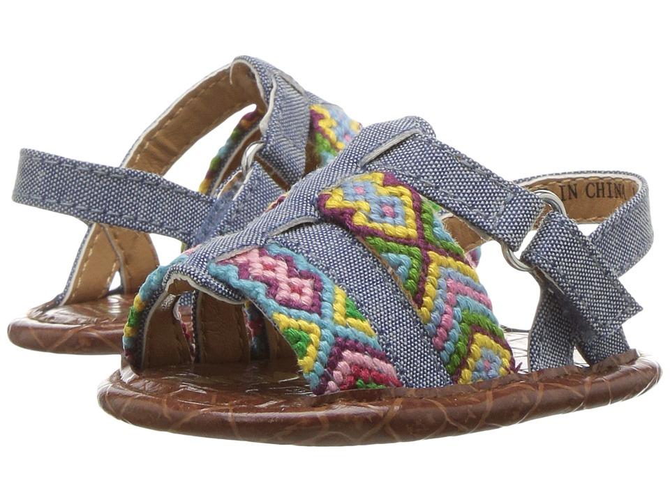 Sam Edelman Kids - Noa (Infant/Toddler) (Blue Chambray) Girl's Shoes