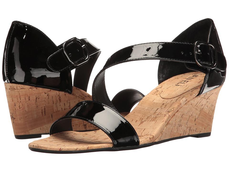 Vaneli - Marise (Black Patent/Gunmetal Buckle) Women's Wedge Shoes