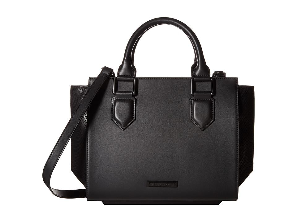 KENDALL + KYLIE - Brook Medium Satchel (Black) Satchel Handbags