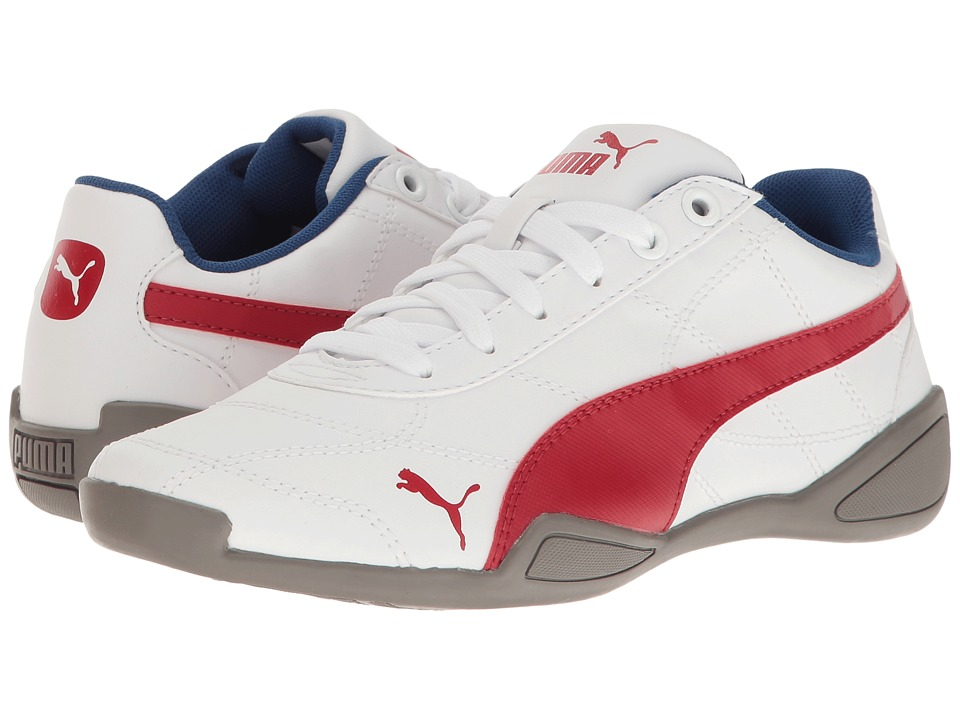 Puma Kids - Tune Cat 3 Jr (Big Kid) (PUMA White/Barbados Cherry) Boys Shoes