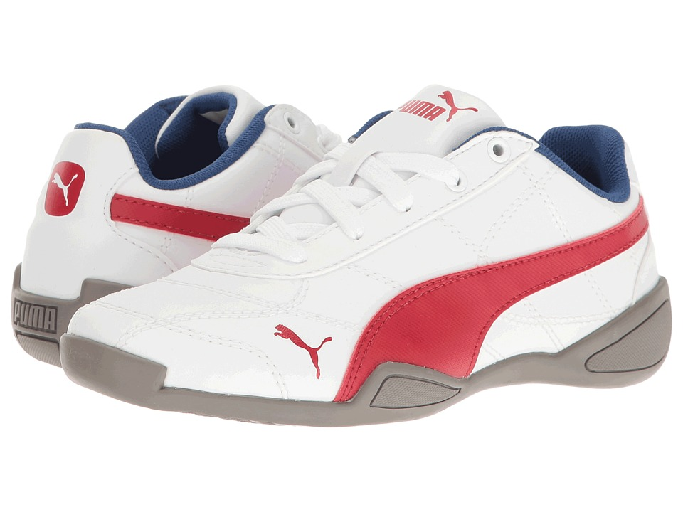 Puma Kids Tune Cat 3 PS (Little Kid/Big Kid) (PUMA White/Barbados Cherry) Boys Shoes