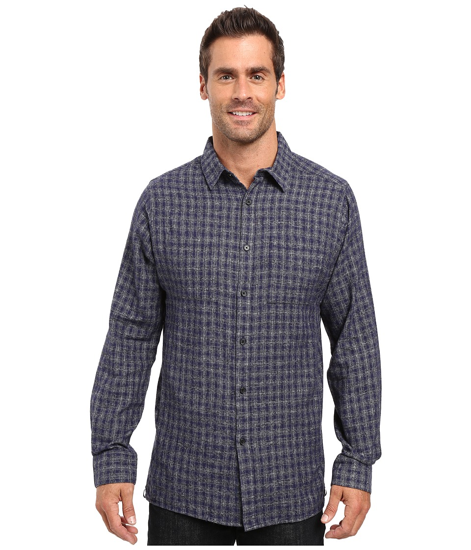 Kenneth Cole Sportswear - Long Sleeve Button Down Collar Heather Ombre (Nightshade Combo) Men's Long Sleeve Button Up