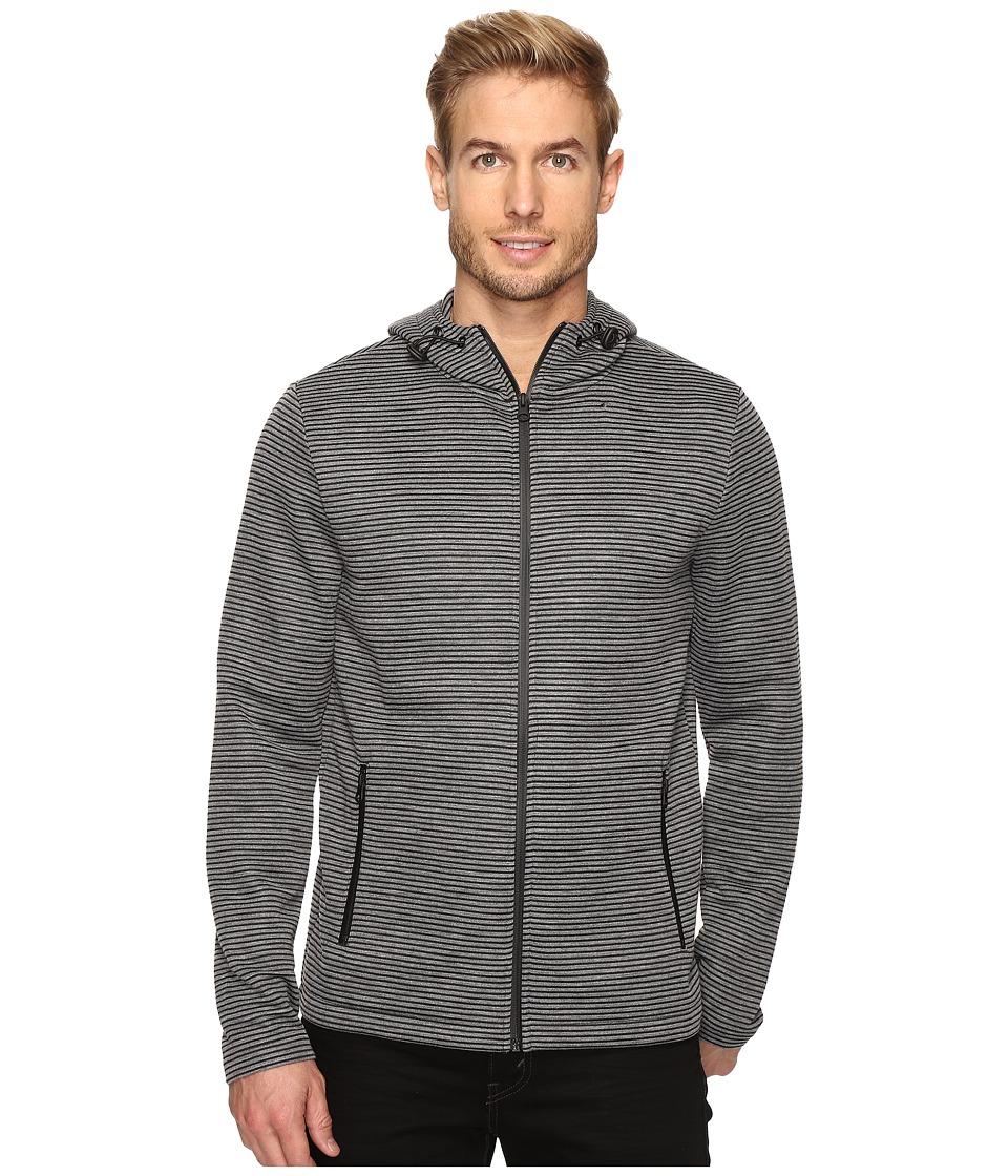 Kenneth Cole Sportswear - Ottoman Hood w/ Nylon (Charcoal Heather) Men's Clothing