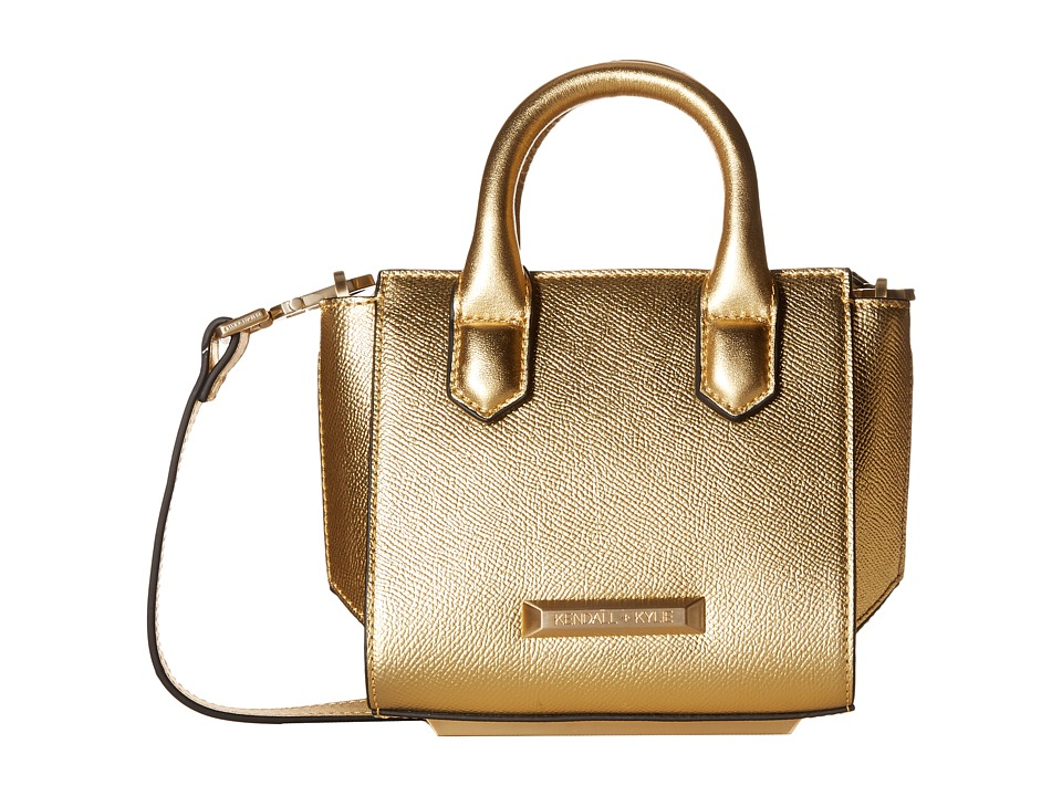 KENDALL + KYLIE - Brook Nano Mini Satchel (Gold) Satchel Handbags