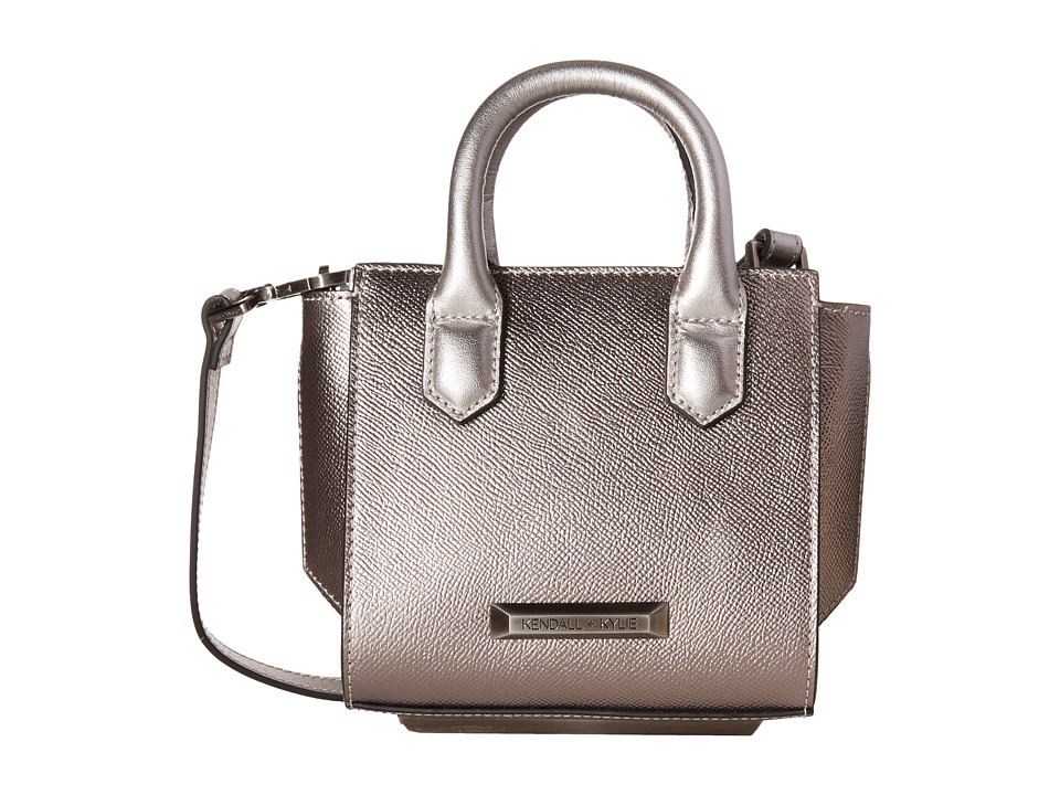 KENDALL + KYLIE - Brook Nano Mini Satchel (Gunmetal) Satchel Handbags