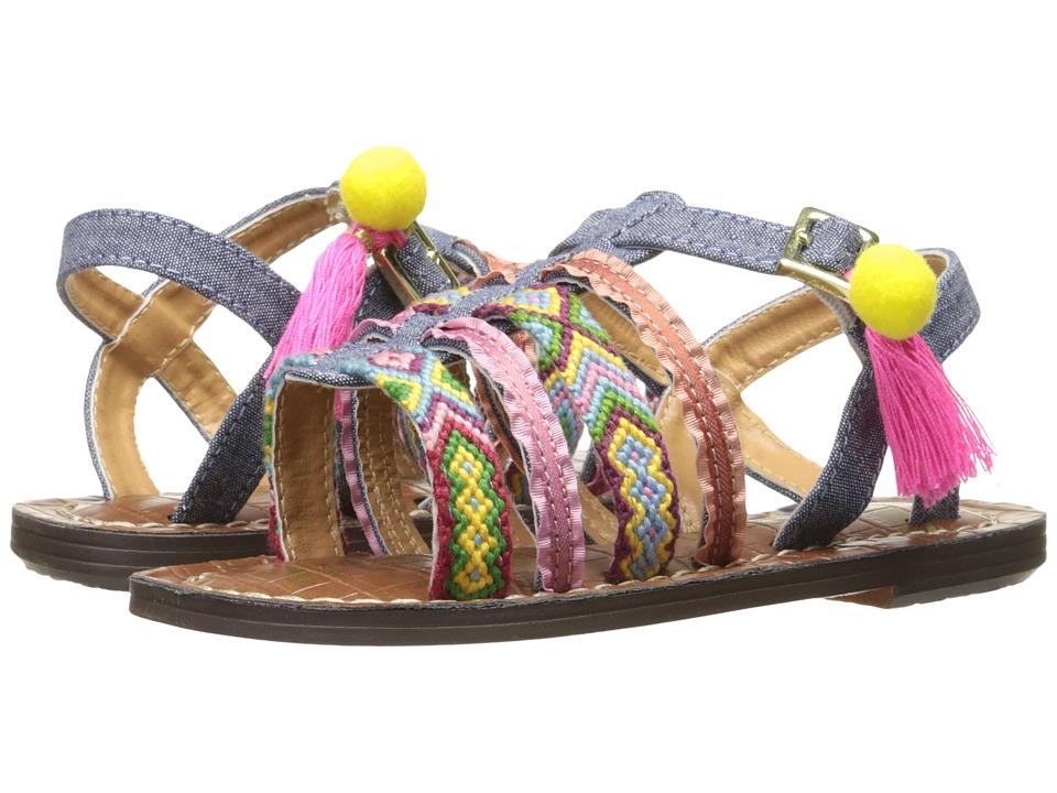 Sam Edelman Kids - Gigi Nancy Embellished (Toddler) (Chambray) Girl's Shoes