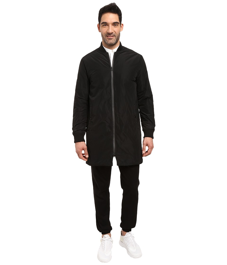 Kenneth Cole Sportswear - Longline Bomber Jacket (Black) Men's Coat