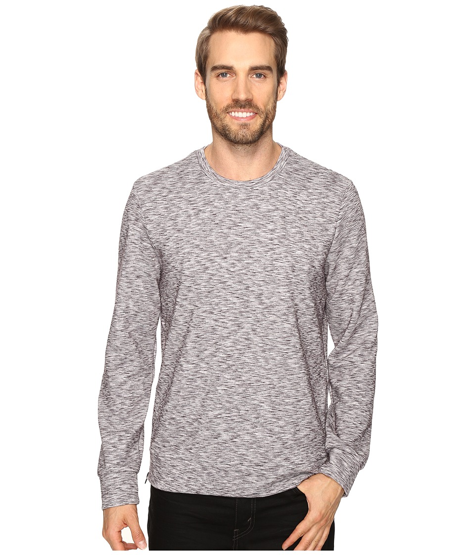 Kenneth Cole Sportswear - Side Zip Ottoman Crew (Heather Grey) Men's Clothing