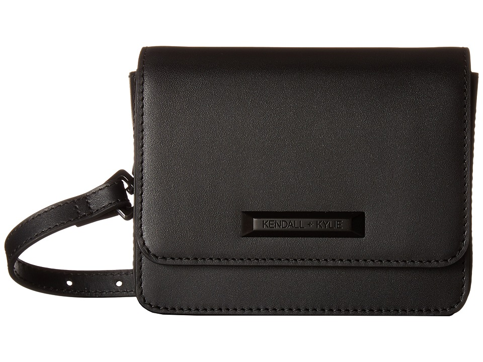 KENDALL + KYLIE - Evelyn Belt Bag (Black) Handbags