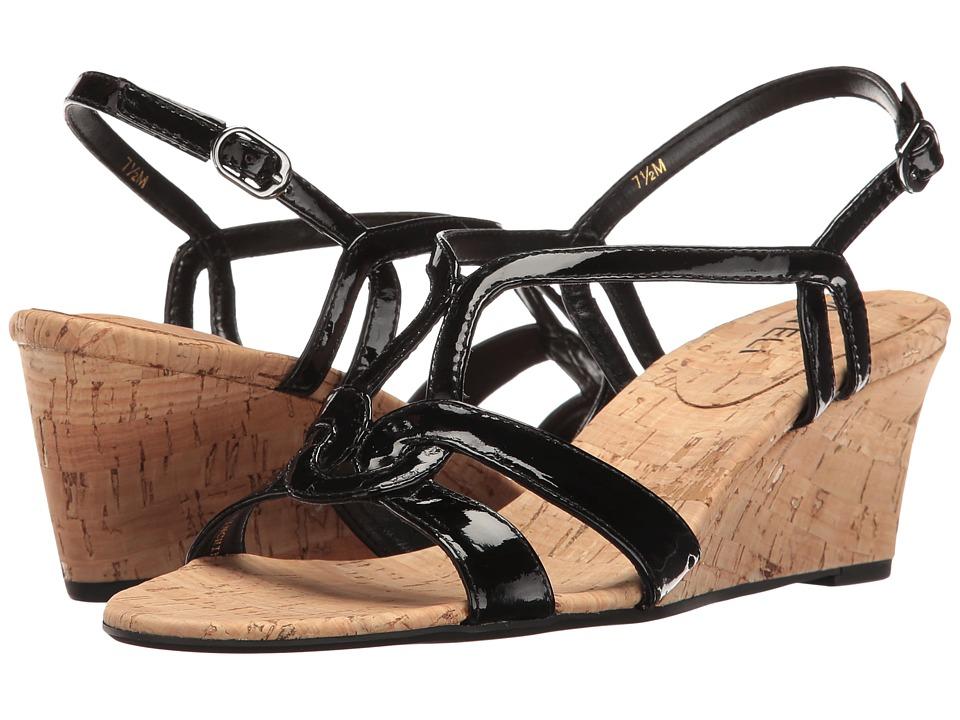 Vaneli - Matty (Black Patent) Women's Wedge Shoes