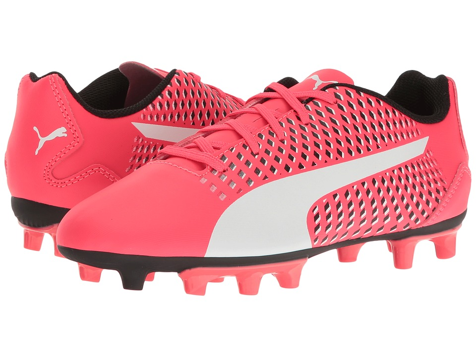 Puma Kids - Adreno III FG Jr Soccer (Toddler/Little Kid/Big Kid) (Bright Plasma/Puma White/Puma Black) Kids Shoes