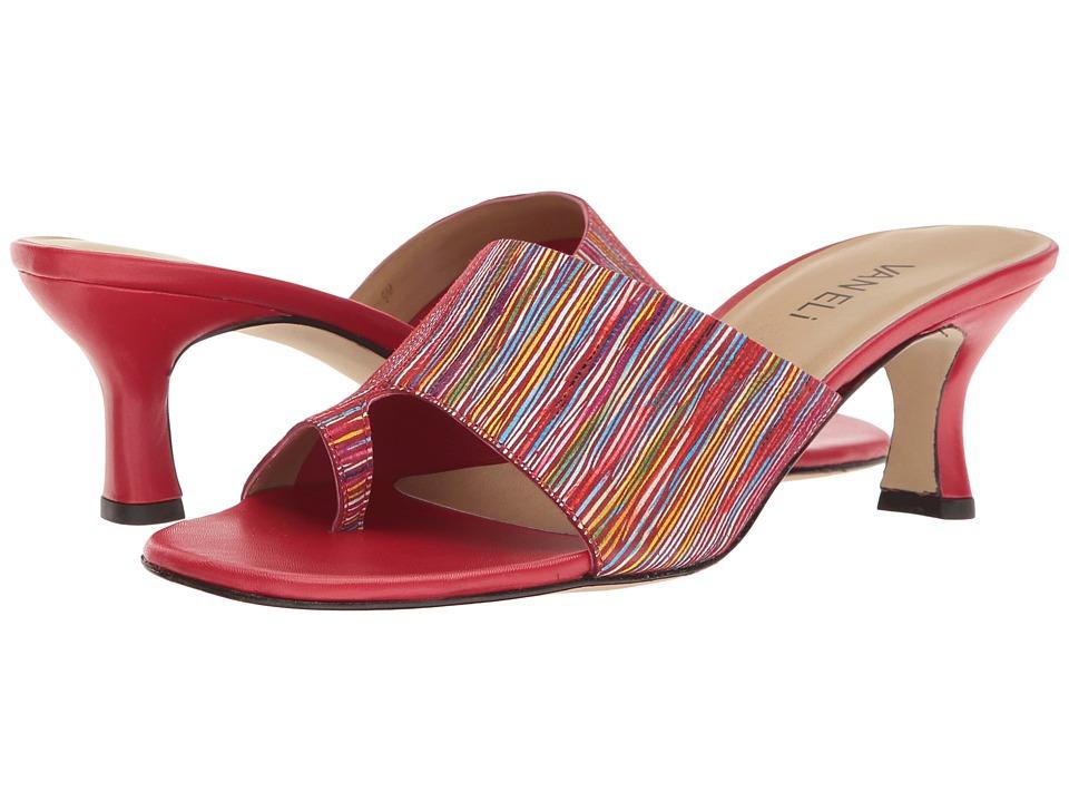 Vaneli - Melea (Red Jolly Print/Red Nappa) High Heels