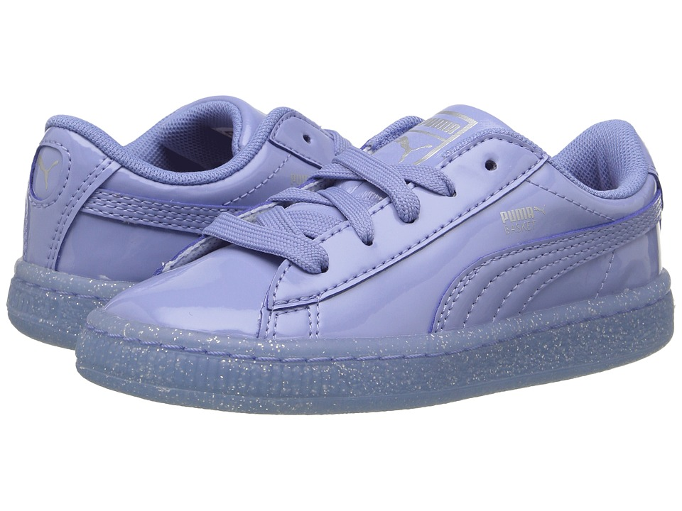 Puma Kids Basket Patent Iced Glitter INF (Toddler) (Lavendar Lustre/Lavendar Lustre) Girls Shoes