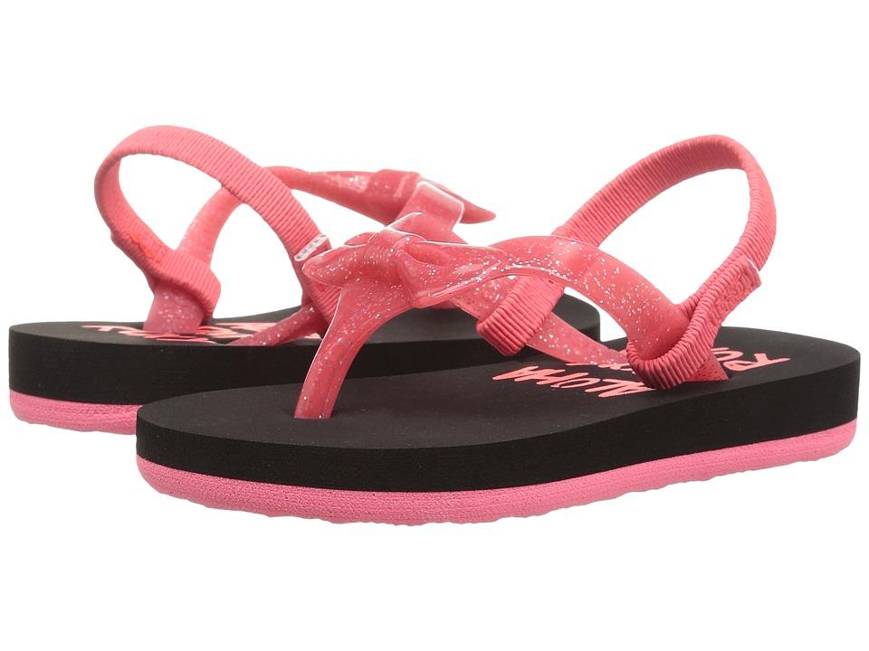 Roxy Kids - Fifi II (Toddler/Little Kid) (Black/True Red) Girls Shoes
