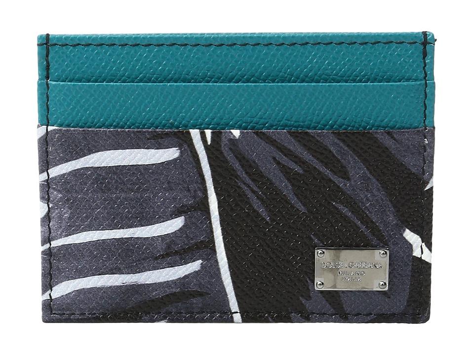 Dolce & Gabbana - Banana Leaf Printed Card Holder (Black) Wallet