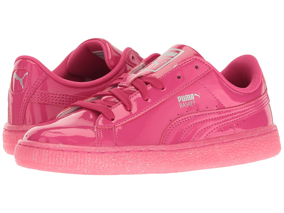 Puma Kids - Basket Patent Iced Glitter Jr (Big Kid) (Beetroot Purple/Beetroot Purple) Girls Shoes
