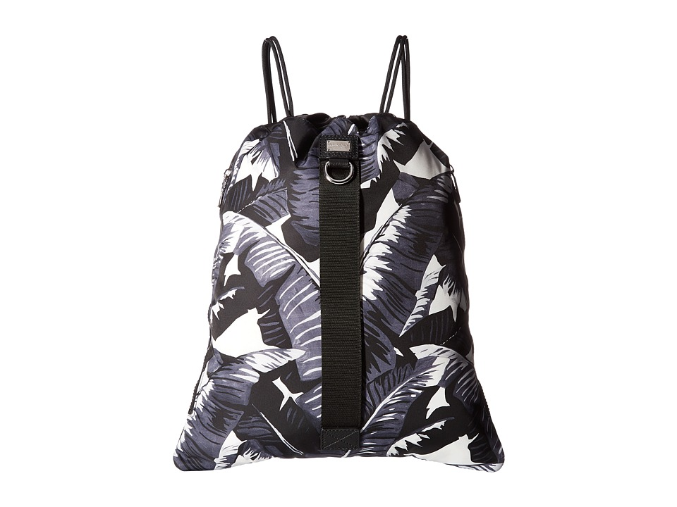 Dolce & Gabbana - Banana Leaf Printed Nylon Rucksack (Black) Backpack Bags