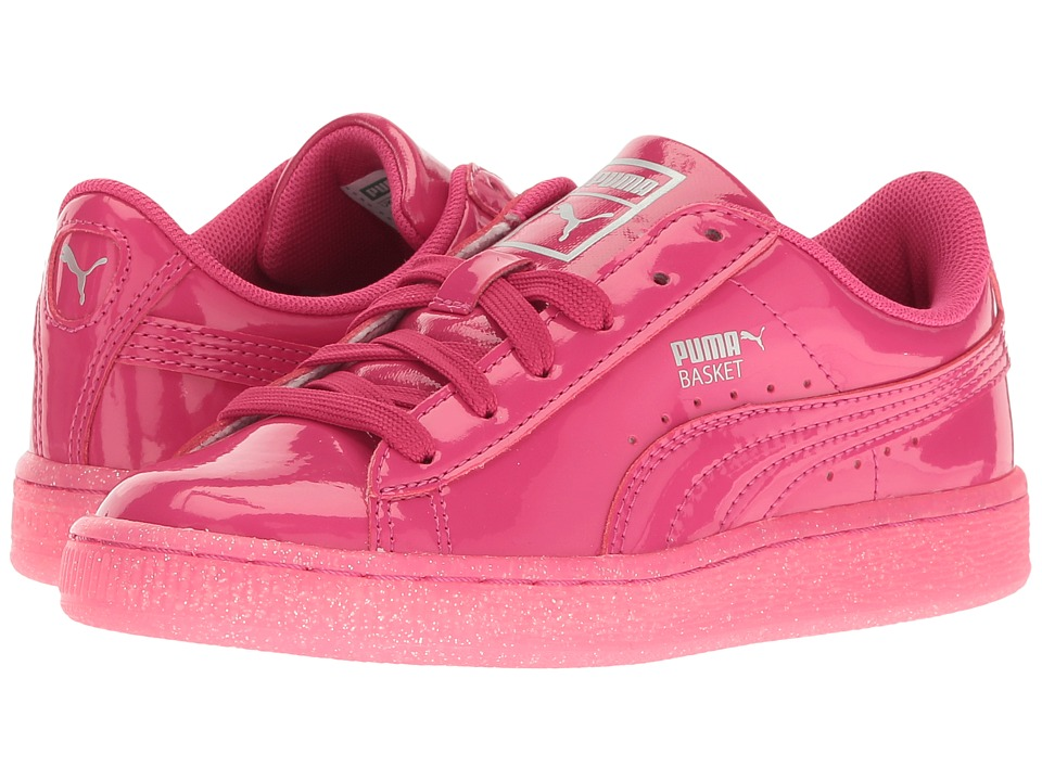 Puma Kids - Basket Patent Iced Glitter PS (Little Kid/Big Kid) (Beetroot Purple/Beetroot Purple) Girls Shoes