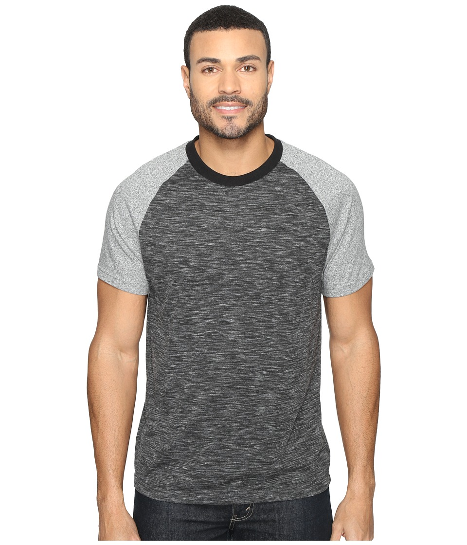 Kenneth Cole Sportswear - Color Block Melange Crew (Charcoal Heather) Men's T Shirt