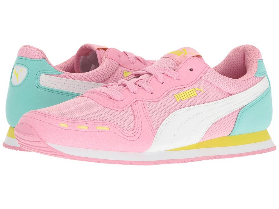 Puma Kids - Cabana Racer Mesh Jr (Big Kid) (Prism Pink/Puma White) Girls Shoes